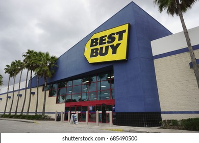 Best Buy on July 23, 2017 in Orlando, Florida. Best Buy is a multinational electronics store.
