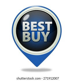 Best buy pointer icon on white background