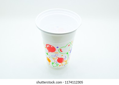 best celebrate and party Plastic cup isolated on white background