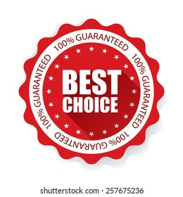 Best Choice on Star Sticker and Tag - Red