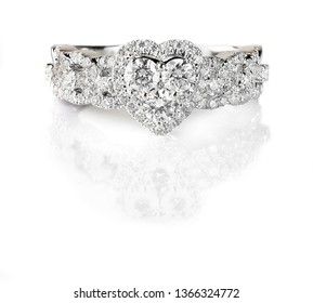 The best diamond ring isolated on white background