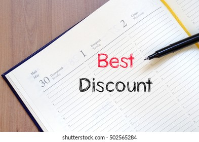 Best discount text concept write on notebook