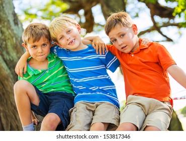 Best Friends, Happy Kids, Friendship Concept