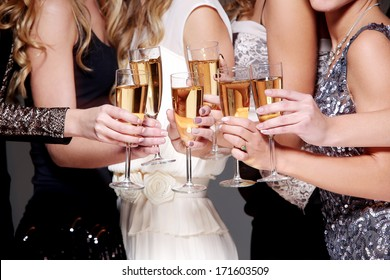 Best friends have new year party celebration