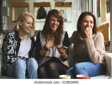 Best friends having fun, laughing.