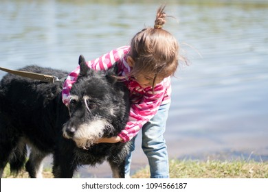 best friends little girl with her dog