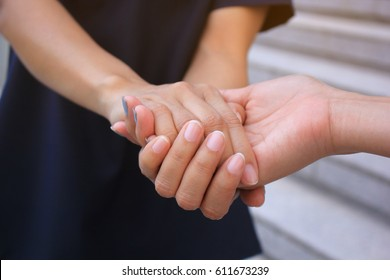 Best Friends, Two woman holding their hands
