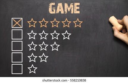 Best game five golden stars on Chalkboard