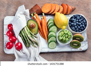 Best High Alkaline Foods.  Vegan, alkaline diet concept