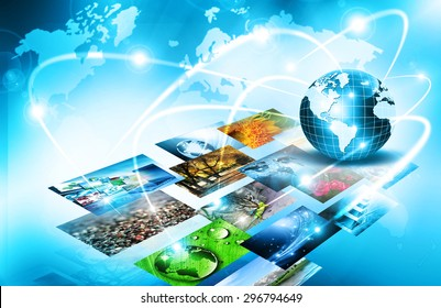 Best Internet Concept of global business from concepts series. Television and internet production technology concept