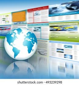 Best Internet Concept.  Technology illustration, 3D illustration