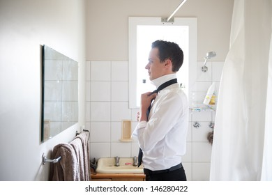 Best man getting ready for a special day.