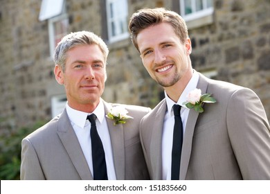 Best Man And Groom At Wedding