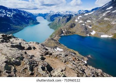 Best Norway hike Besseggen Ridge at Jotunheimen park