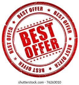 Best offer stamp
