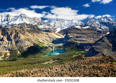 The best place on Earth to be in: Lake O`Hara, in Yoho National Park, British Columbia border with Alberta.