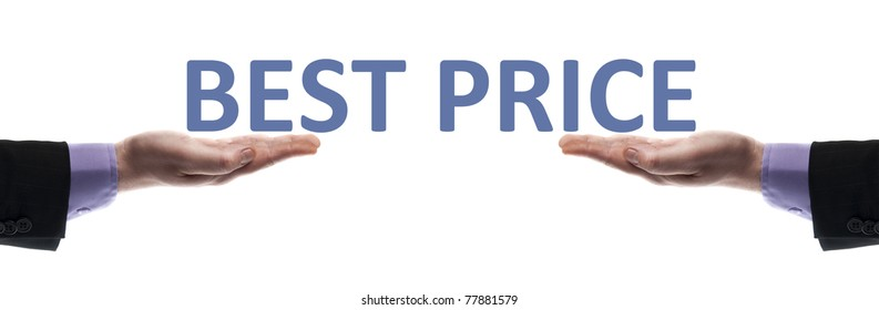 Best price message in male hands