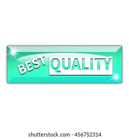 Best quality button isolated on white background. 3d render