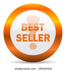 best seller computer icon on white background