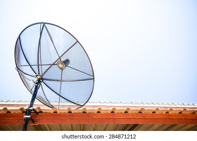 Best signal with satellite dish on the roof at home