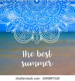 The best summer banner with mandala.  illustration