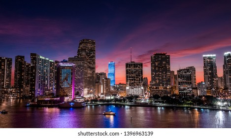 Best Sunset in Miami Downtown
