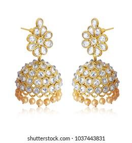 Best traditional gold-diamond earrings