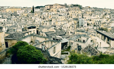 Best view of the City of Matera, Sassi, Sassi di Matera, best panorama of Matera Old Town, view of the streets in the old town, Basilicata, Southern Italy