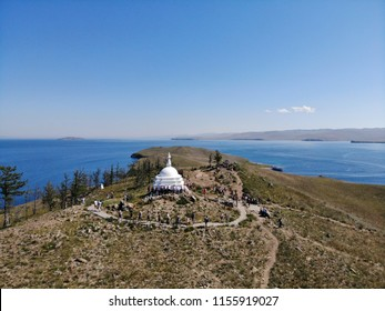 The best view to the island of Olkhon and Lake Baikal, Siberian view and nature reserve, beautiful places, Rock Shaman, places with strong energy.