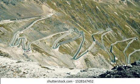 Best view of Passo dello Stelvio, Northern Italy, motorbike paradise