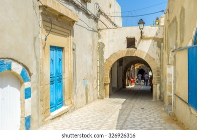 The best way to discover old Medina is to walk a couple of hours in maze of its streets, Sousse, Tunisia.