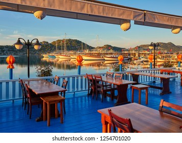 The best way to finish the day in turkish riviera is to visit one of the restaurant with a great view on mediterranean seascape, Kekova, Turkey