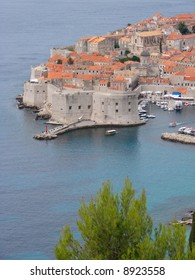 The best way to start a visit to Dubrovnik is by taking a walk around the City Walls, to get a feeling for the history of the city. Here Fort St. Ivan can be seen which guards the Old Harbor.