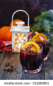 Best winter drink mulled wine with orange and spices