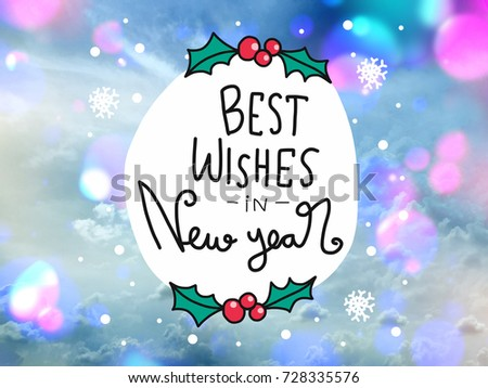 Best Wishes New Year Word Lettering Stock Photo (Edit Now) 728335576 ...