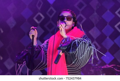 Bestival - 8th September, 2017: Yukimi Nagano lead singer with Swedish band Little Dragon performing at Bestival festival , Lulworth, Dorset 8 September 2017, UK