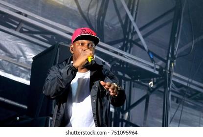 Bestival - 9th September, 2017: British rapper Dylan Kwabena Mills aka Dizzee Rascal performing at  Bestival festival , Lulworth, Dorset 9 September 2017, UK