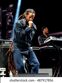 Bestival - September 10th 2016: Jamaican reggae artist Damian Marley, son of Bob Marley, performing live on the main stage at Bestival, Newport, Isle of Wight, September 10, 2016 on Isle of Wight, UK