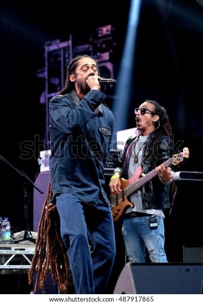 Bestival September 10th 2016 Jamaican Reggae Stock Photo
