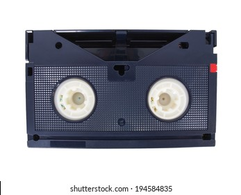 Betamax video tape cassette isolated over white background