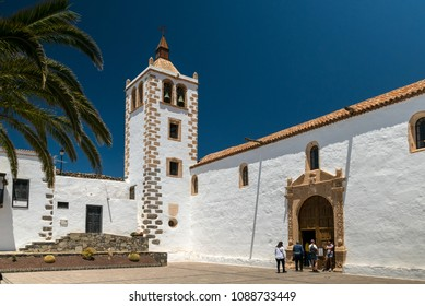 BETANCURIA, FUERTEVENTURA, SPAIN - MAY 2, 2018: Church in the small town of Betancuria, Island of Fuerteventura, Spain