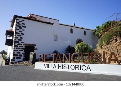 BETANCURIA, SPAIN - CIRCA FEBRUARY 2019Big letters