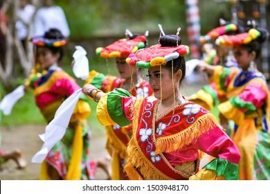 Betawi Dance, Traditional Dance from Jakarta, 12 December 2018, Taman Nusa, Gianyar, Bali - Indonesia.