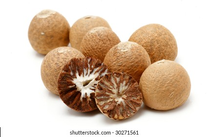Betel nuts on white background