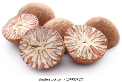 Betel nuts over white background