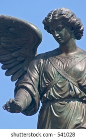 Bethesda Fountain in Central Park closeup