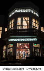 Bethesda, Maryland / USA - August 20, 2019: A brand new Anthropologie women's clothing store opens up on Bethesda Row, replacing the Barnes & Noble that went out of business.