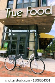 Bethesda, Maryland / USA - Sep. 9, 2019: True Food Kitchen Bethesda is a health-driven, seasonal food restaurant located in Solaire Bethesda with high quality gluten-free, vegetarian and vegan food.