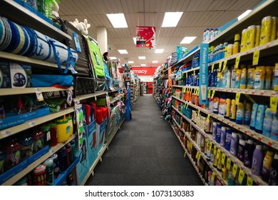 Bethesda, MD - April 4, 2018: Random objects for sale at a CVS Pharmacy store.