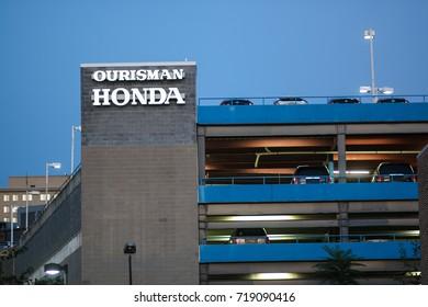 Bethesda, MD - September 20, 2017: Ourisman Honda in downtown Bethesda.
